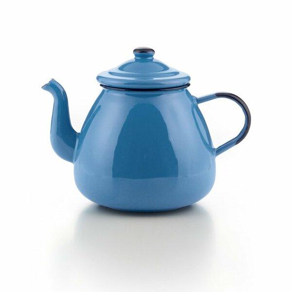 Emaille Teekanne blau