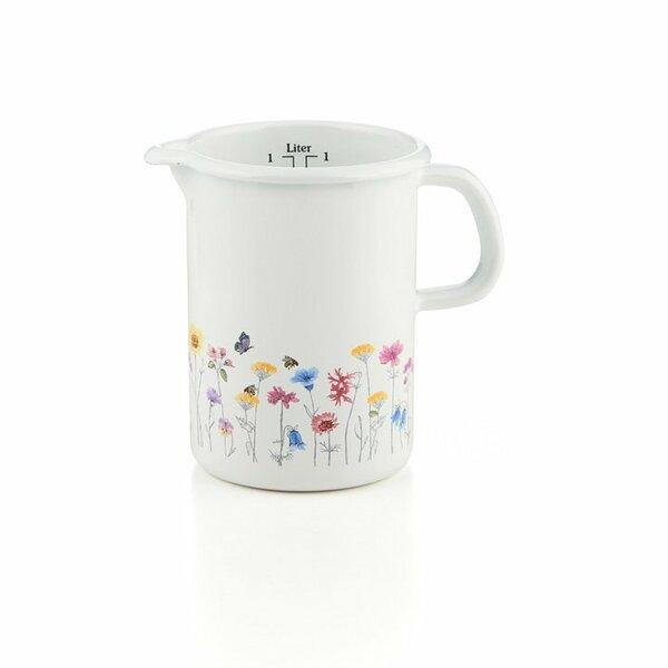 Riess Emaille Küchenmaß Messbecher Flora 1 Liter