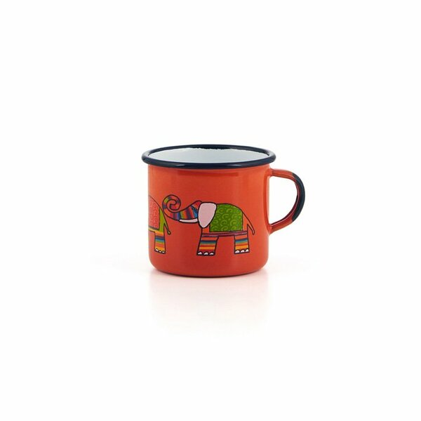 Emaille Kindertasse orange