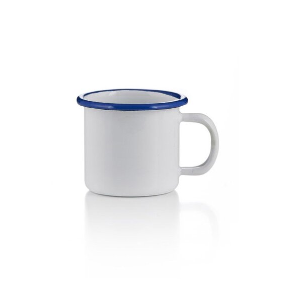 Emaille becher tasse 6cm weiß