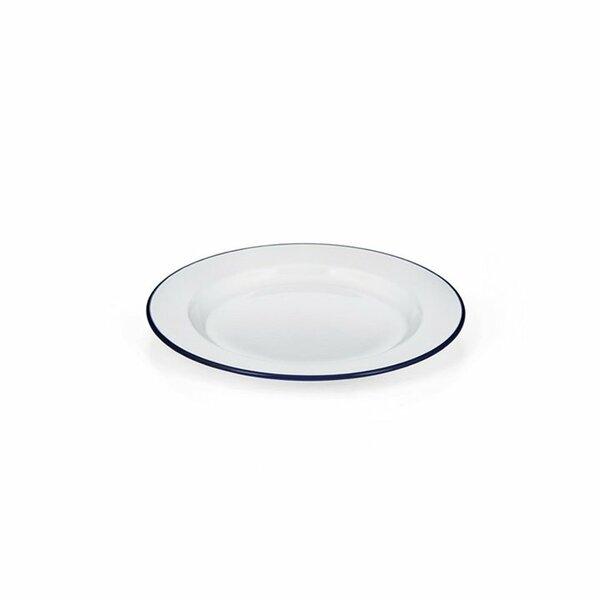 Emaille Teller flach weiß 20cm