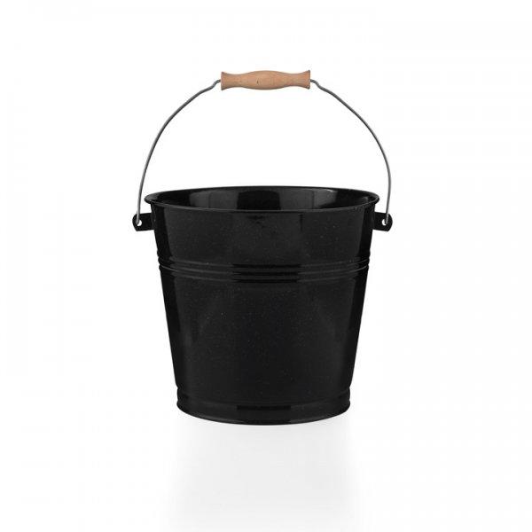 Emaille Eimer 5 Liter schwarz gesprenkelt