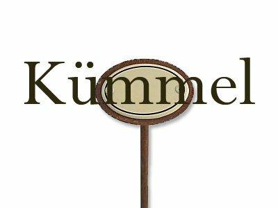 Emaille Kräuterstecker Kräuterschild Kümmel