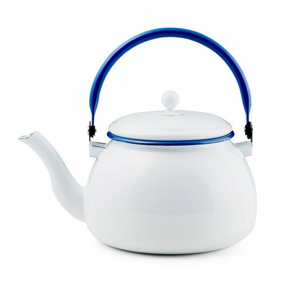 Emaille Wasserkessel weiß Teekessel
