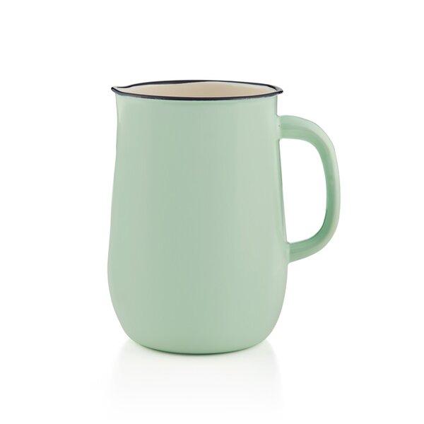 Emaille Wasserkanne, Wasserkrug, Krug, Vase mintgrün