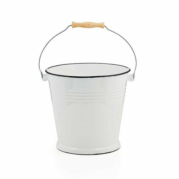 Emaille Eimer 10 Liter weiß
