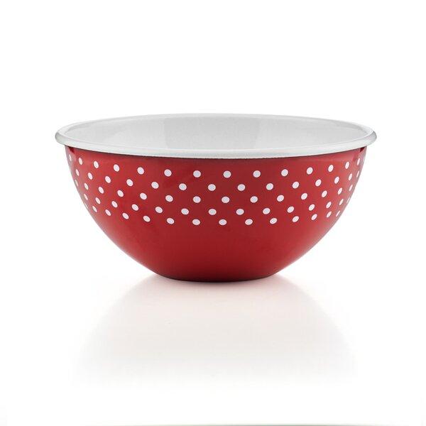 Riess Emaille Obst- und Salatschüssel 26cm Pünktchen Rot