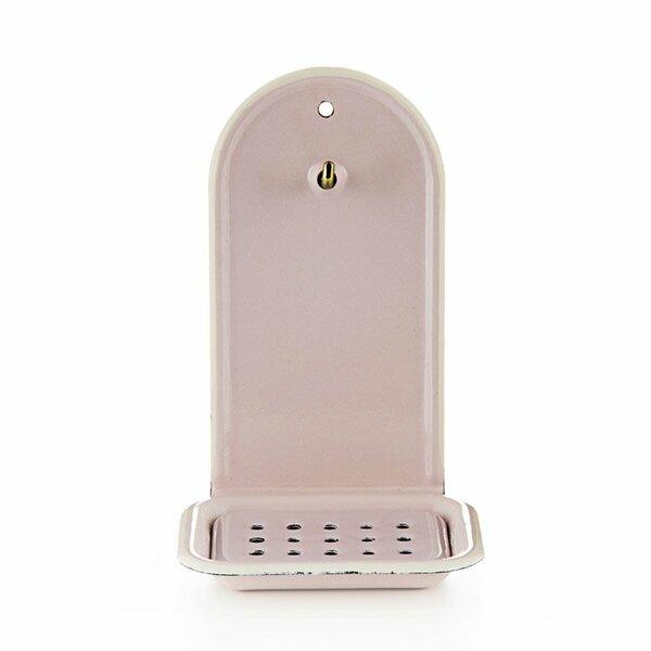 emaille seifenschale hoch zum hängen rosa