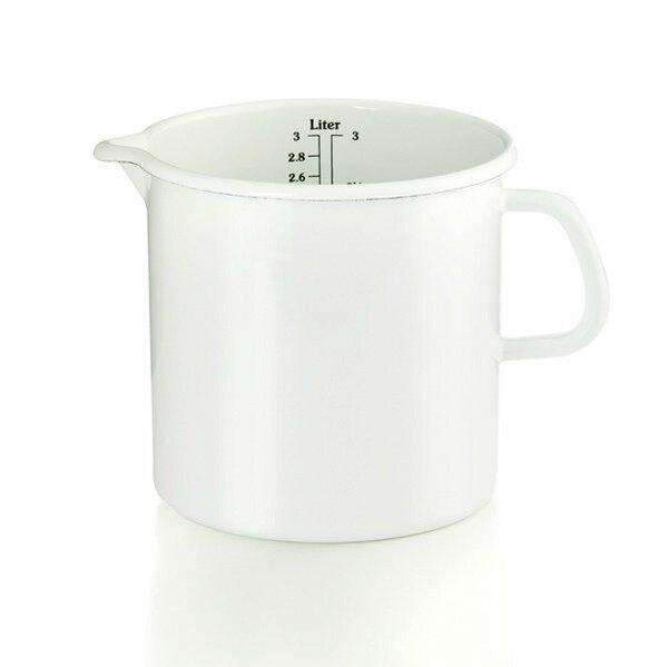 Riess Emaille Küchenmaß Litermaß Meßbecher 3 Liter