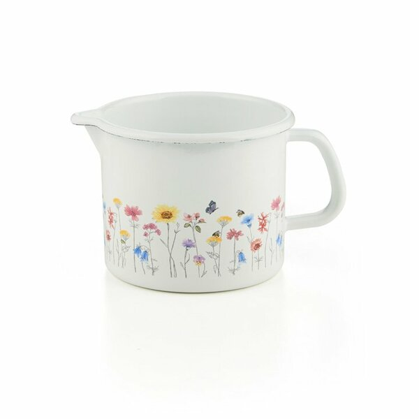Riess Emaille Schnabeltopf Flora 1,7 Liter