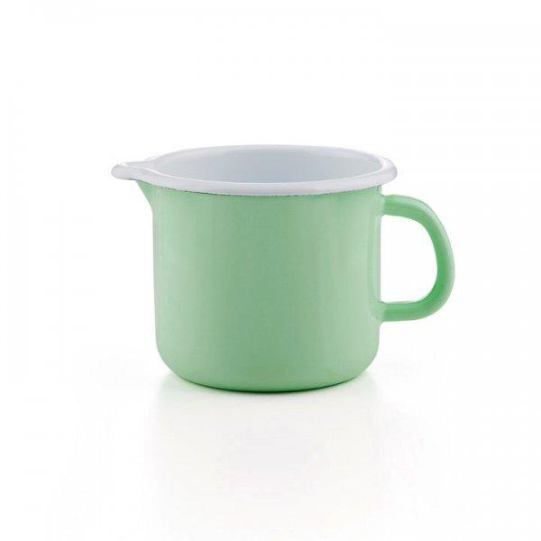 Emaille Schnabeltopf hellgrün Milchtopf