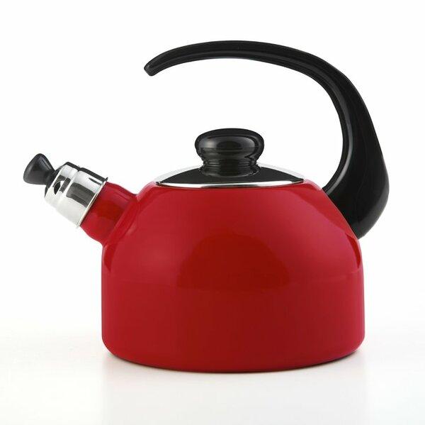 Flötenkessel rot 2 Liter, schwarzer Griff
