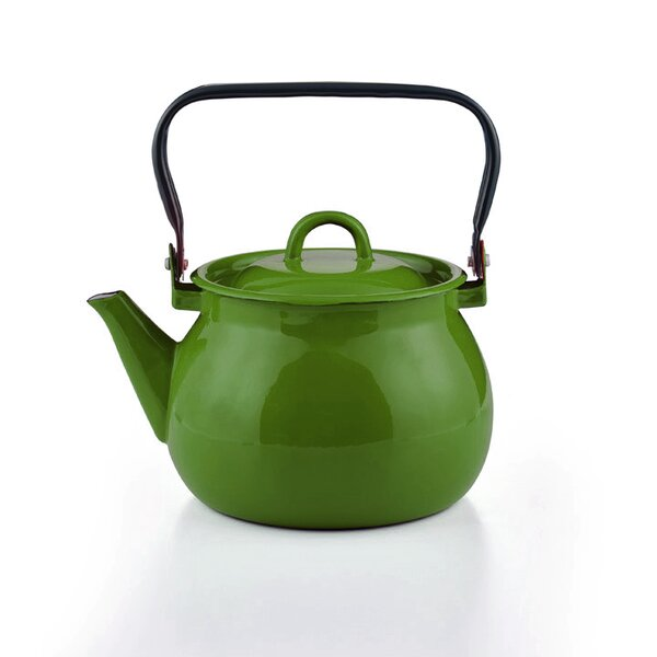 Emaille Wasserkessel grün Teekessel