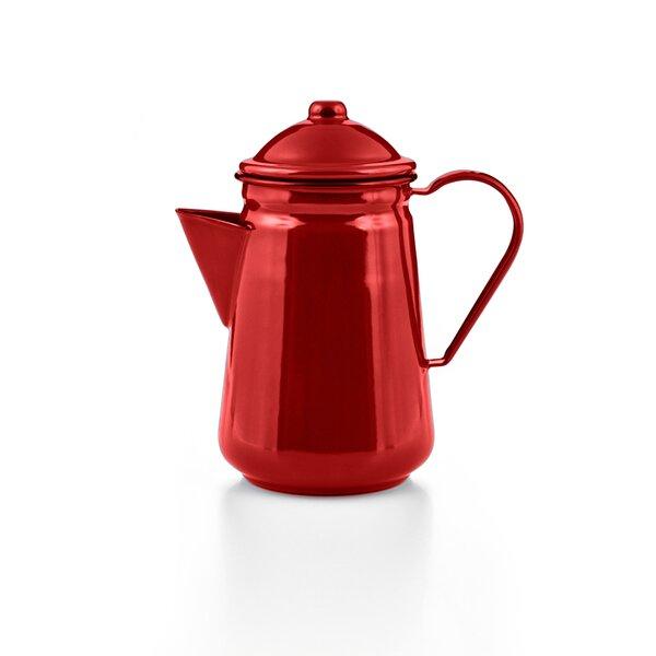 Emaille Kaffeekanne rot