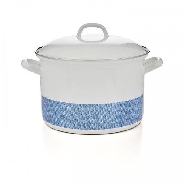 Riess Emaille Fleischtopf Linea 3,5 Liter blau