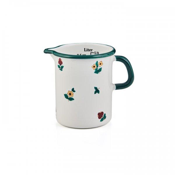 Riess Emaille Küchenmaß 0,5 Liter Gmundner Streublumen