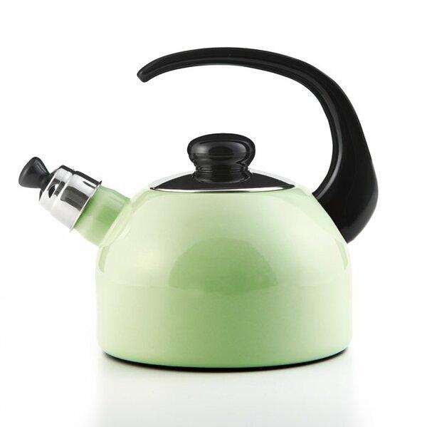 Flötenkessel PLUS 2 Liter nilgrün, schwarzer Griff