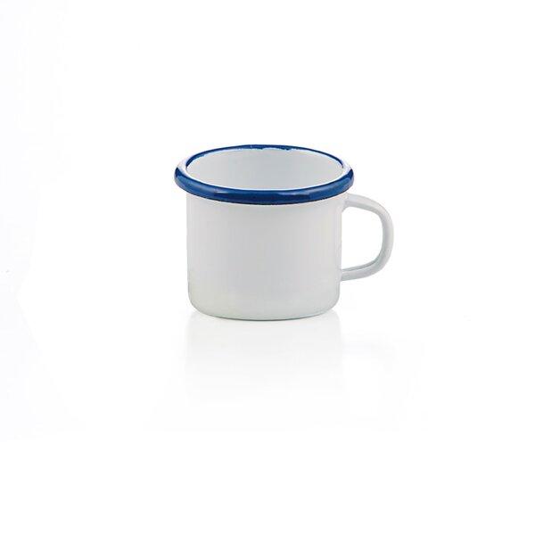 Emaille Espressotasse weiß