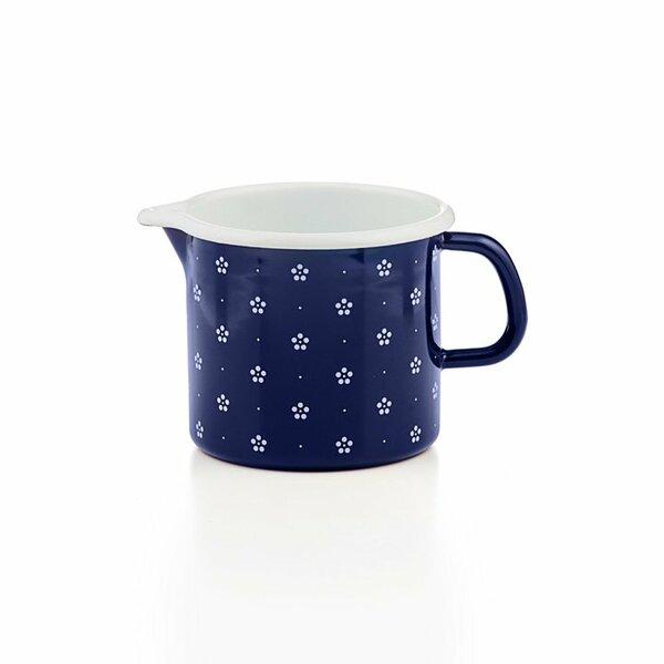Riess Schnabeltopf Blümchenblau Emaille 12cm 1 Liter