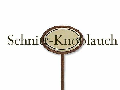 Emaille Kräuterstecker Kräuterschild Schnittknoblauch