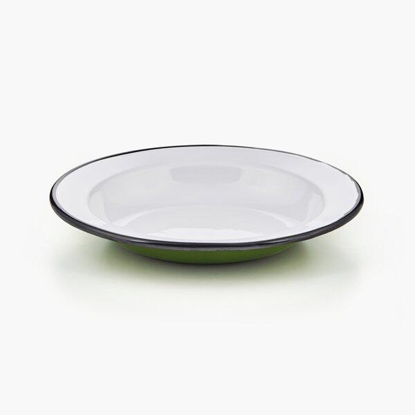 Emaille Suppenteller Teller tief grün