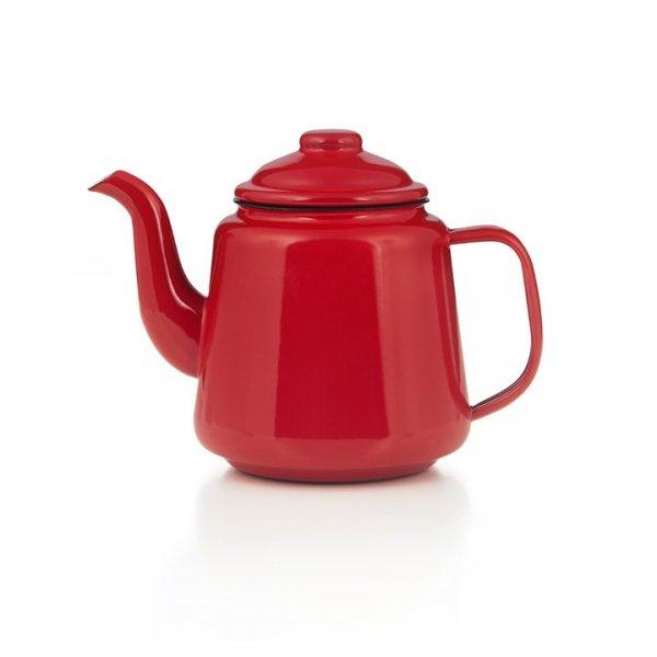 Emaille Teekanne 1,0 Liter rot