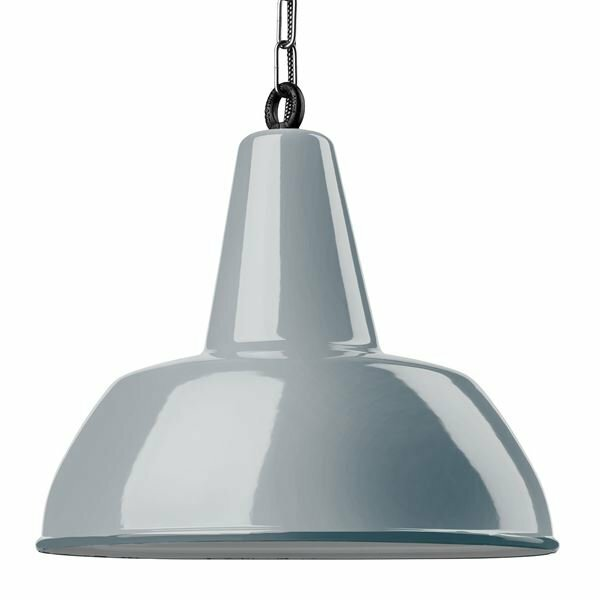Emaille Lampe Gics blaugrau