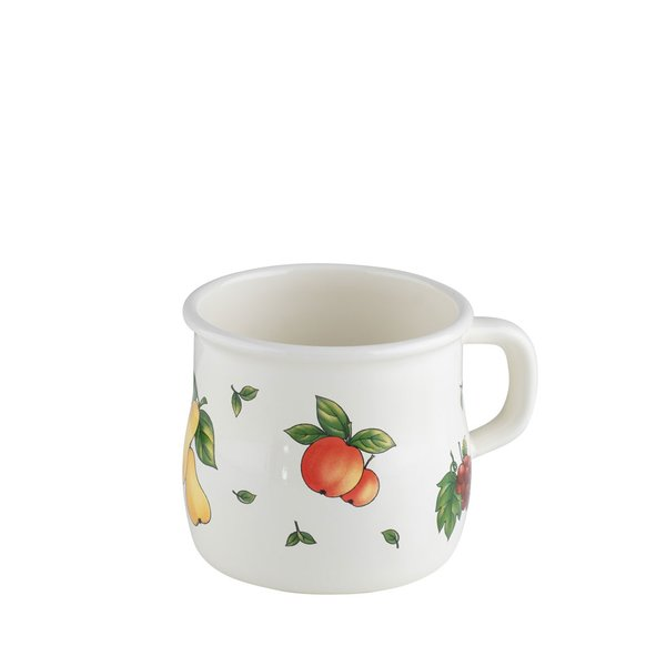 Emaille Riess Tasse Becher  Fruit Garden