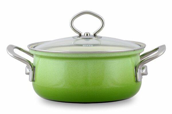 Riess Emaille Kasserolle Smaragd 1,5 Liter