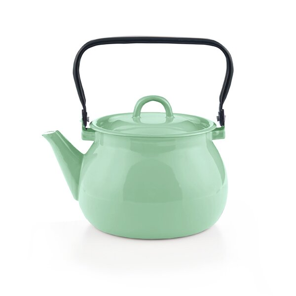 Emaille Wasserkessel mintgrün Teekessel