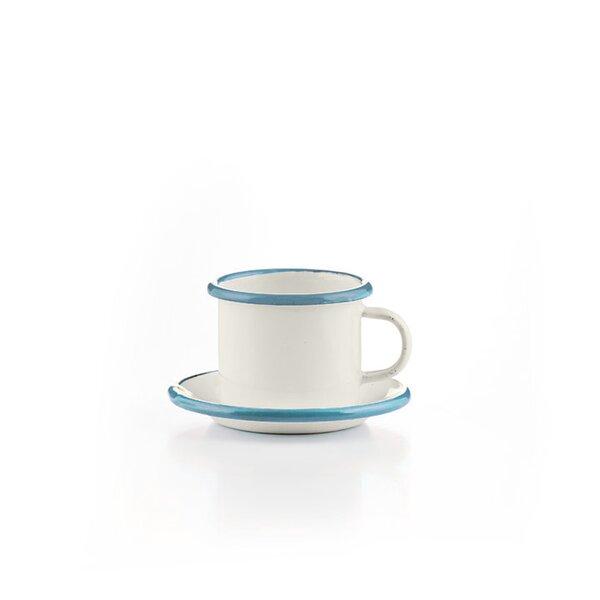Emaille Espressotasse mit Untertasse Versailles