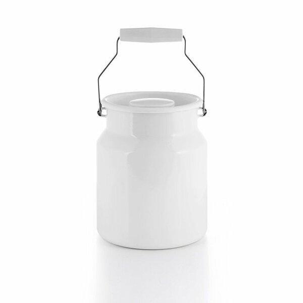 Emaille riess Tragekanne weiß 3 Liter