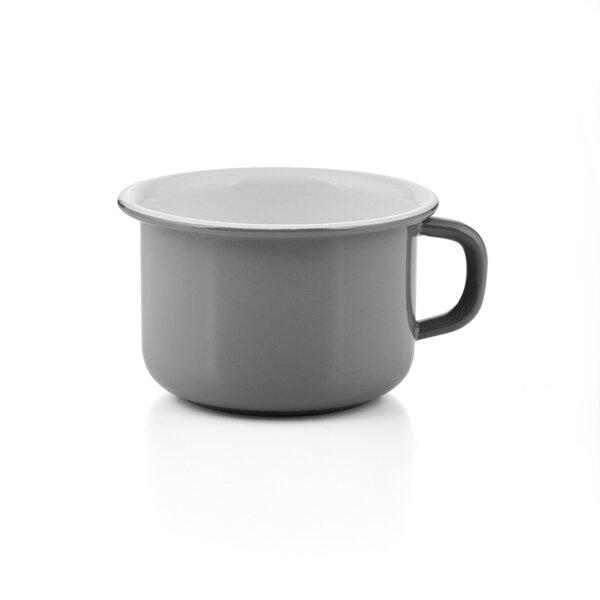 Riess emaille kaffeeschale 0,4 Liter grau Pure Grey