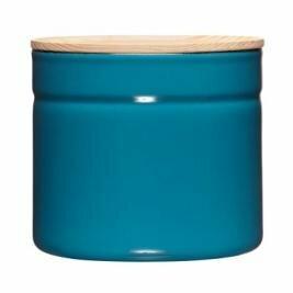 Vorratsdose mit Eschenholzdeckel 1390ml Silent Blue
