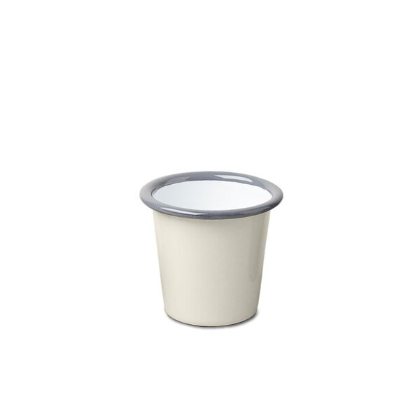 Falcon Emaille Mini Becher Tumbler Oyster Grey