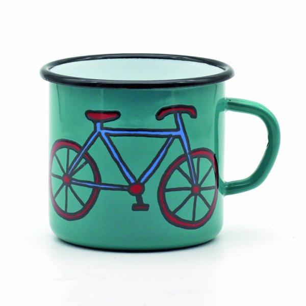 Tasse Fahrrad petrol 350ml