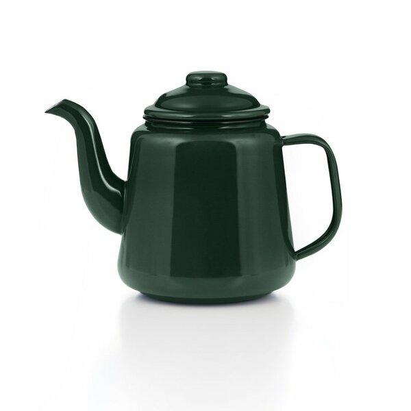 Emaille Teekanne 1,5 Liter grün