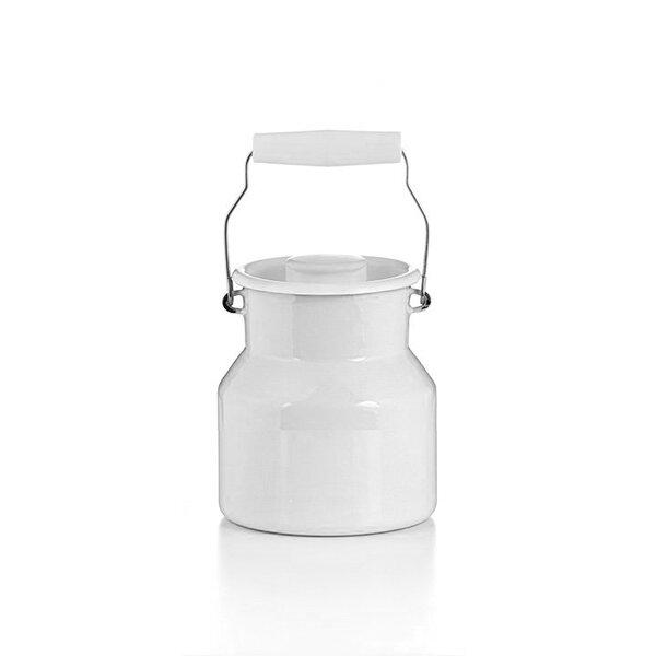 Emaille riess Milchkanne weiß 1 Liter