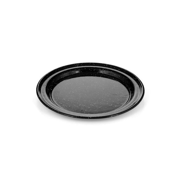 GSI Emaille Teller flach schwarz