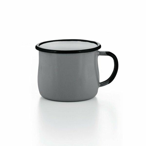 Emaille Tasse Becher grau
