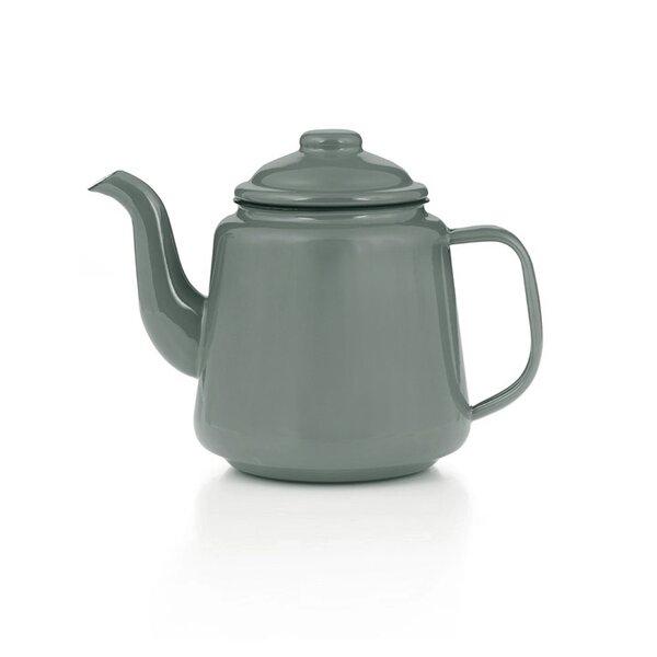Emaille Teekanne 1,5 Liter grau