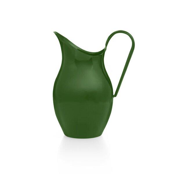 Emaille Wasserkanne Wasserkrug dunkelgrün