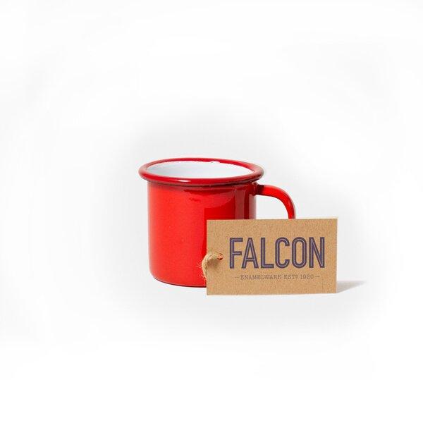 Falcon Emaille Espressotasse Espresso Tasse rot