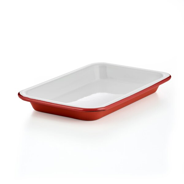 Falcon Emaille mini Tablett rot Small tray Pillarbox Red