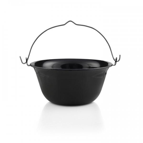 Emaille Lagerfeuerkessel Suppenkessel Gulaschkessel schwarz