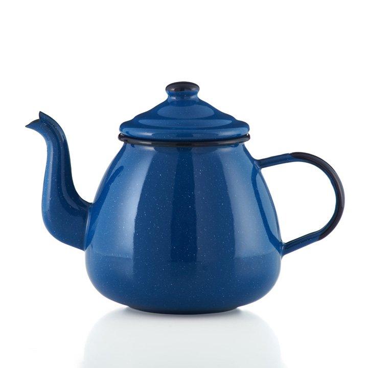 Emaille Tee- und Kaffeekannen