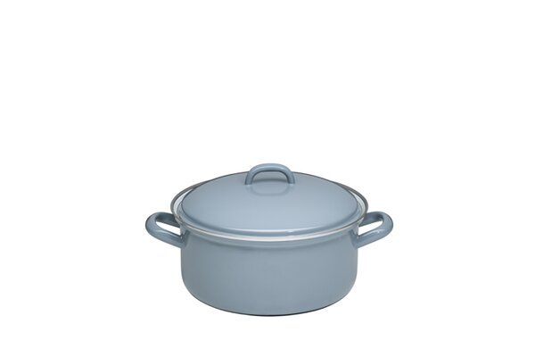 Riess Emaille Kasserolle Pure Grey grau