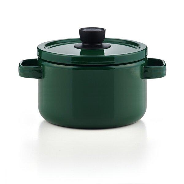 Emaille Topf hoch grün Kochtopf Suppentopf