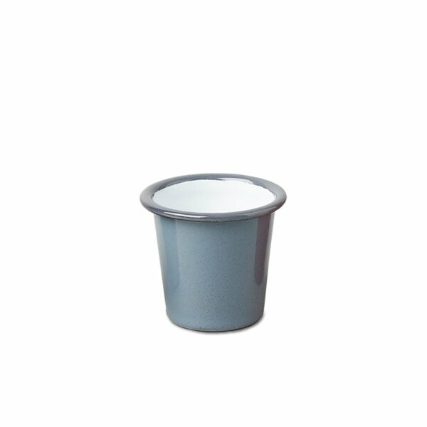 Falcon Emaille Mini Becher Tumbler grau