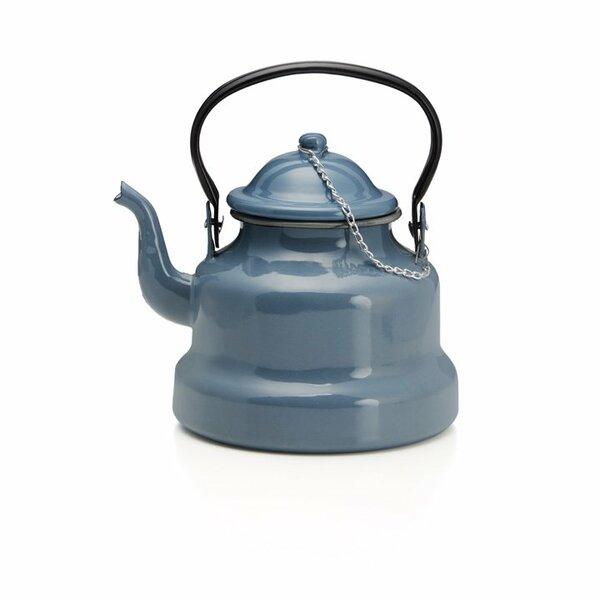 Emaille Wasserkessel Teekessel grau